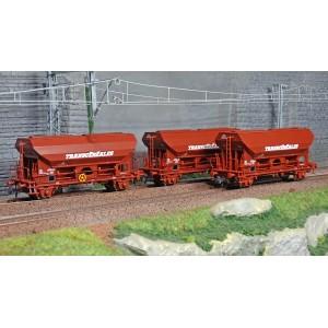 Roco 76033 Set de 3 wagons céréaliers, SNCF, Transcereales