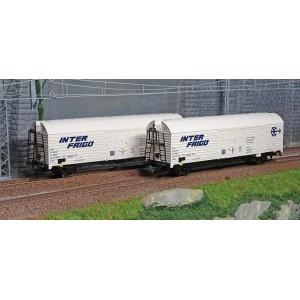 Roco 76040 Set de 2 wagons frigo à essieux, SNCF, INTER FRIGO