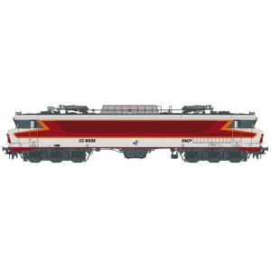 Ls Models 10331 Locomotive électrique CC 6535 SNCF, gris métallisé, livrée Arzens, logo Beffara, Lyon-Mouche