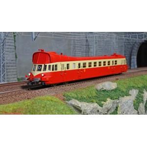 Jouef HJ2410S Autorail diesel ABJ 3, livrée rouge/beige, toit rouge, SNCF, digitale sonore