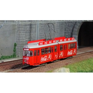 Rivarossi HR2755 Autorail Tram électrique, rouge, livré Coca-Cola, Noël