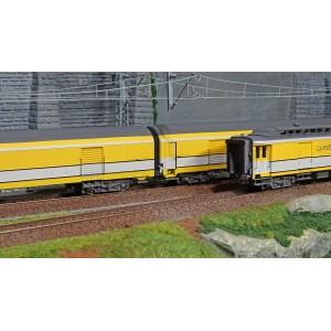 LS Models 40425 Set de 3 voitures Postales UIC, jaune PTT, PE UIC + PE UIC + Pez OCEM