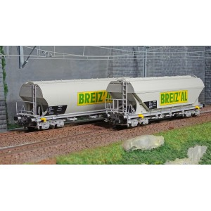 Jouef HJ6185 Set de 2 wagons trémie à bogies, SNCF, BIREZ'AL