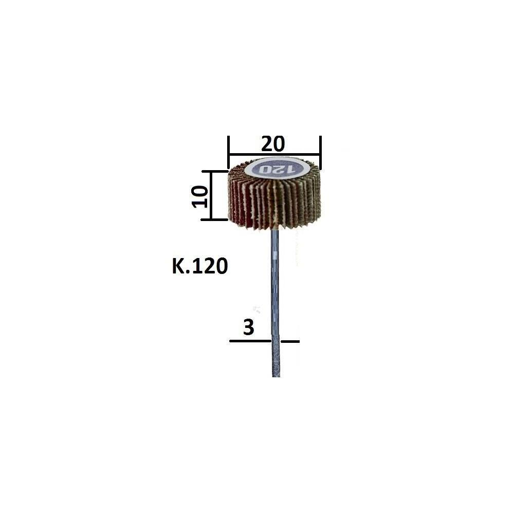 Meule à lamelles en grain normal, 20x10mm 28984