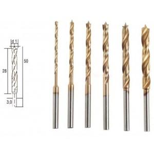 Forets en HSS avec pointe de centrage, 6 pièces, 1,5 à 4 mm Proxxon