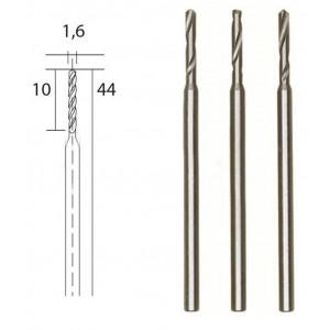 Forets HSS en acier, Ø 1.6 mm, 3 pièces Proxxon 28858