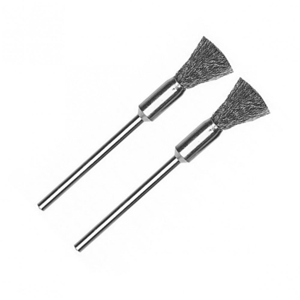 Brosse pinceau en acier Ø 8 mm (x2) Proxxon 28951