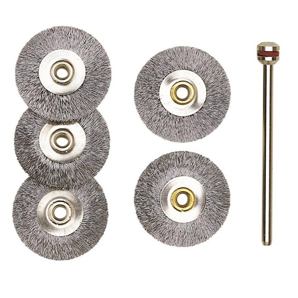Brosse disque en acier Ø 22 mm (x5) Proxxon 28952