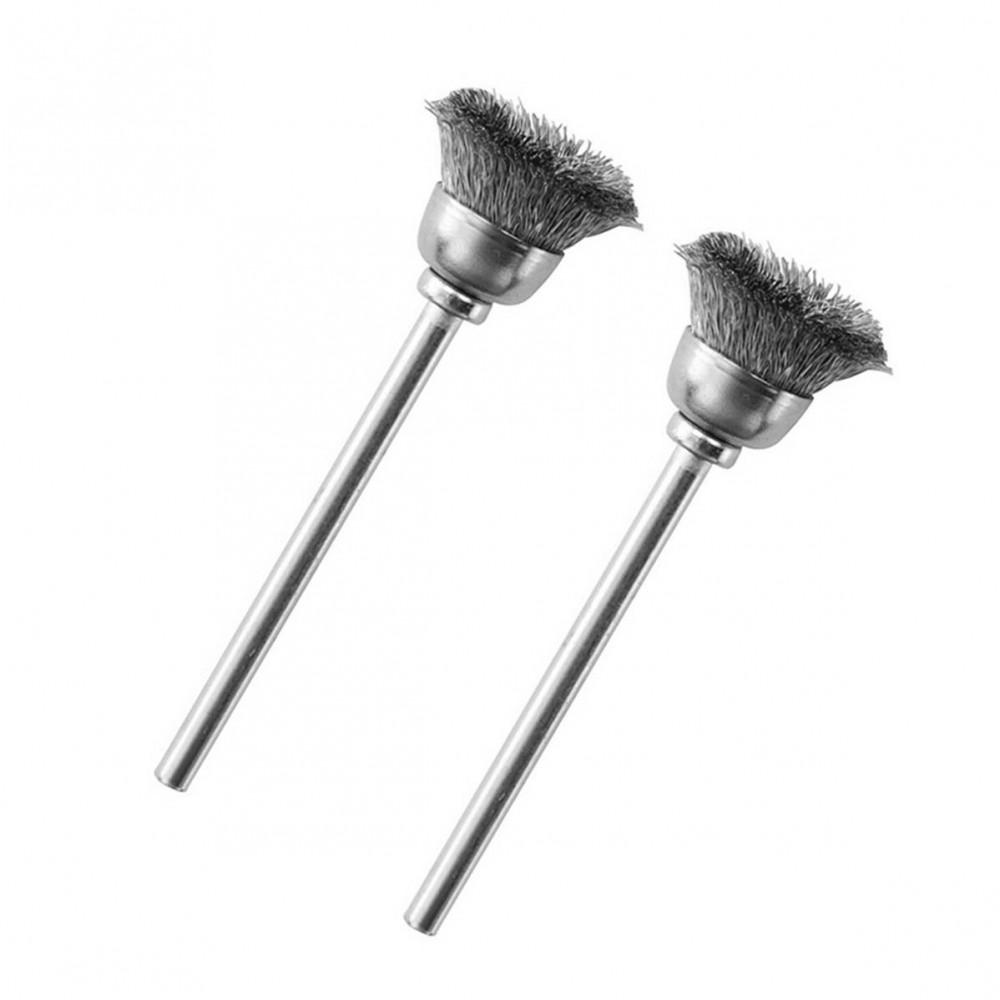 Brosse pinceau rond en acier Ø 13 mm (x2) Proxxon 28953