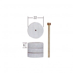 Disque à polir élastiques, Ø 22 mm, 4 pièces +1 tige Proxxon 28296