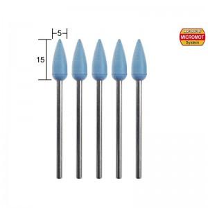 Polissoirs en silicone forme ogive, 5 pièces, Ø 5mm, 2 pièces Proxxon 28288