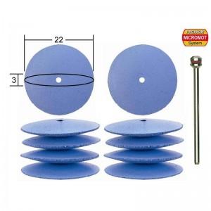 Polissoirs en silicone forme lentille, 5 pièces, Ø 22mm, 2 pièces Proxxon