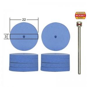 Polissoirs en silicone forme disque, Ø 22mm, 10 pièces Proxxon 28294