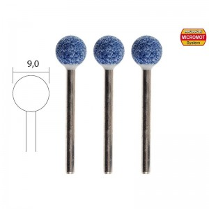 Meules en corindon, boule Ø 9mm (x3) Proxxon 28782