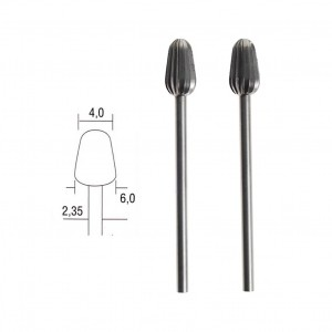 Fraise embout acier wolfram-vanadium, cône Ø 6mm (x2) Proxxon 28723