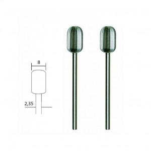 Fraise embout acier wolfram-vanadium, cylindrique Ø 8mm (x2) Proxxon