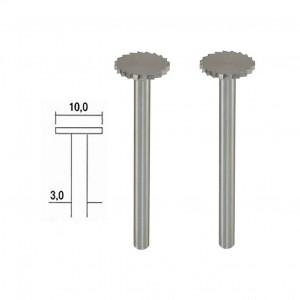 Fraise embout acier wolfram-vanadium, disque Ø 10mm (x2) Proxxon