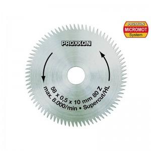 Lame de scie circulaire Super-cut denture alternée 58 mm, 80 dents Proxxon 28014