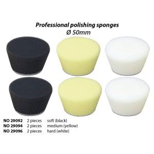 Éponge de polissage conique Ø 50 mm, moyenne (jaune) (x2) Proxxon 29094
