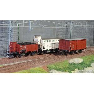 Trix 24148 Set de 3 wagons marchandises T3, KPEV, LBE