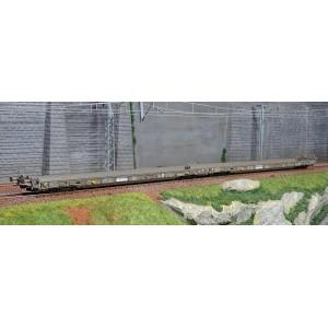 """Marklin 47409 Set de 2 wagons porteurs à plancher surbaissé """"Route roulante"""" type Saadkmms, RAlpin AG"""