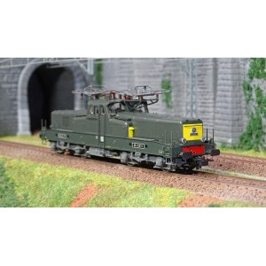 Jouef HJ2338S Locomotive électrique BB 12079, SNCF, livrée vert / jaune, digitale sonore
