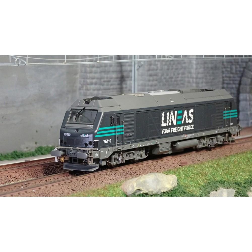 Os.Kar OS7501DCCS Locomotive diesel BB 75110, LINEAS, digitale sonore