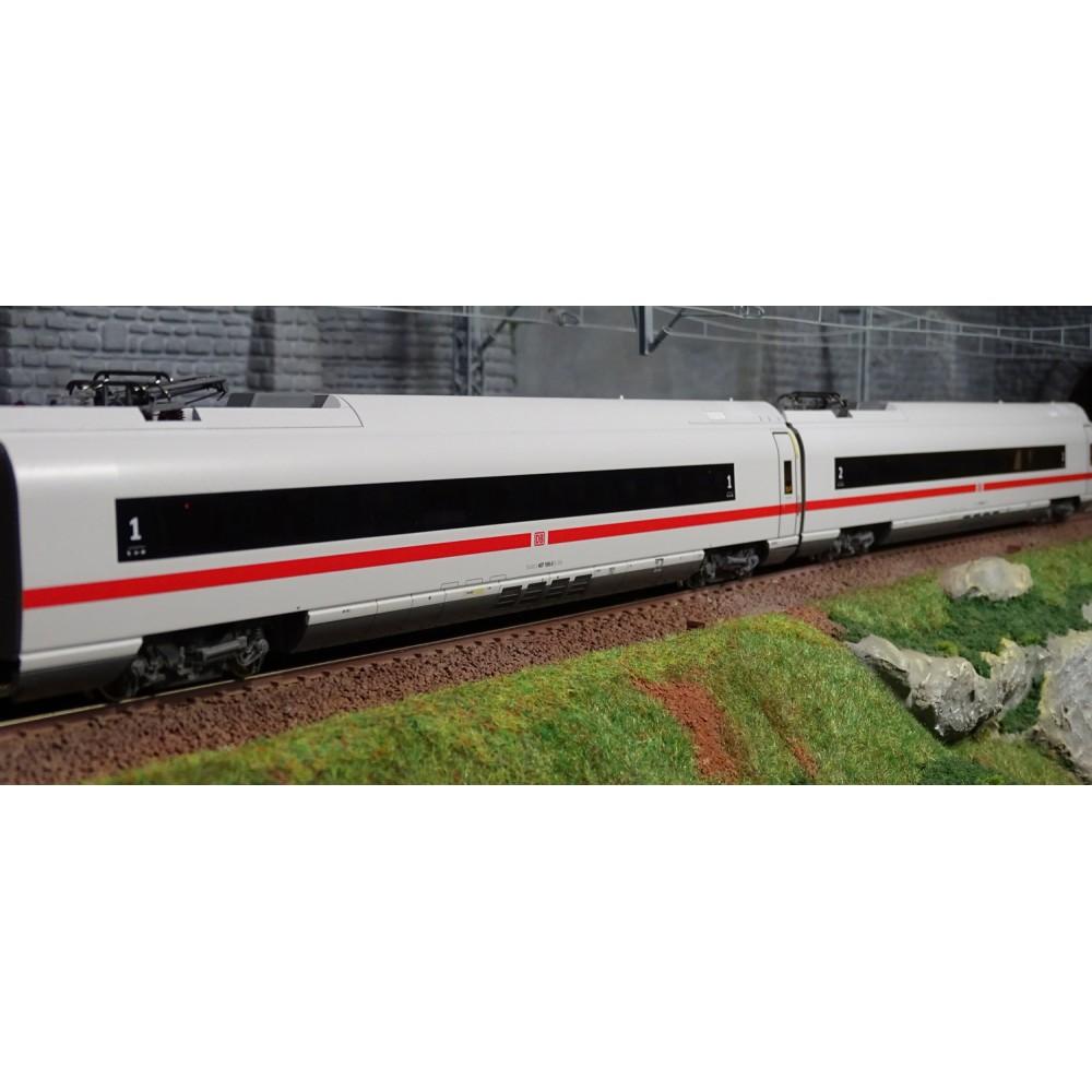 Roco 72097 Set de 2 voitures intermédiaires ICE (BR 407), 1ere et 2eme classe, DB AG, éclairé