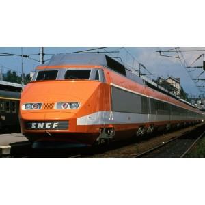 Ree Modeles TGV002 Set de 3 voitures intermédiaires TGV PSE Rame Origine, Remorques R2 + R5 + R6