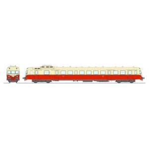 Ree Modeles MB162.S Autorail X 2825 version d'origine, Rouge et Crème, Toulouse, SNCF, digital sonore
