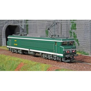Jouef HJ2371S Locomotive électrique CC 6550, SNCF, livré vert et blanc, digital sonore