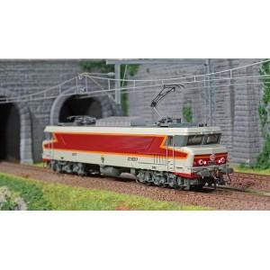 Jouef HJ2372S Locomotive électrique CC 6517, SNCF, livré Béton rouge, Beffara, digital sonore