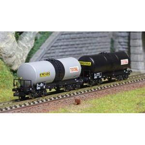 REE Modeles NW226 Set de 2 wagons citernes ANF, Transport de Produits pétroliers, SNCF, ALGECO / TOTAL
