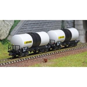 REE Modeles NW228 Set de 2 wagons citernes ANF, Transport de Produits pétroliers, SNCF, SIMOTRA