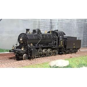 Trix 25252 Locomotive à vapeur avec tender séparé C 5/6, SBB, digitale sonore