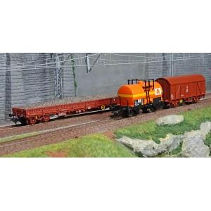 "Marklin 47103 Set de 3 wagons marchandises ""Colas Rail"""
