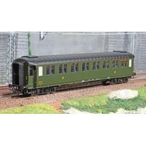 Ree modeles VB412 Voiture voyageurs métallisées Ex-PLM, SNCF, B8 n°54507, vert 306, ep. III