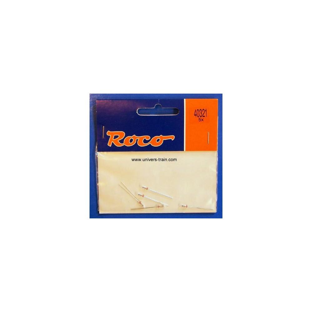 Roco 40321 sachet de 5 lampes à fil LED 16V / 22mA