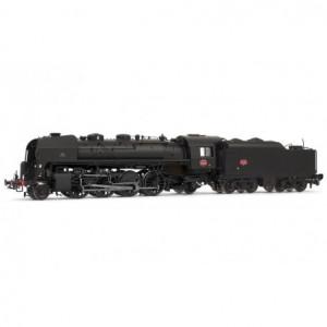 Jouef HJ2351S Locomotive à vapeur SNCF, 141 R 463, noire, dépôt Venissieux, tender charbon, sonore