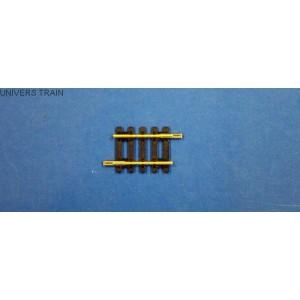 Jouef Hornby R610 Rail droit longueur 38mm avec éclisses
