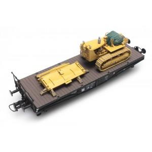 Artitec 487.801.55 Buldozer D7, Jaune, Chargement pour wagon