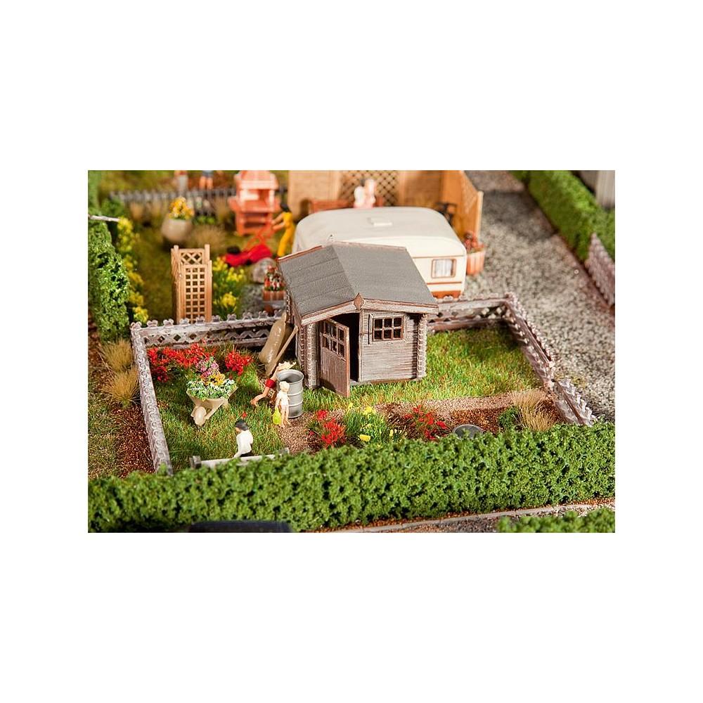Maison De Jardin En Bois: Faller 180492 Jardin D'ouvrier Avec Petite Maison De Jardin