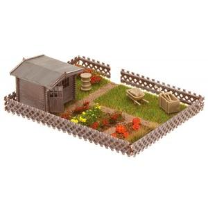 faller 180492 jardin d 39 ouvrier avec petite maison de jardin. Black Bedroom Furniture Sets. Home Design Ideas