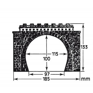 Faller 120565 Maquette, 2 entrées de tunnel double voie