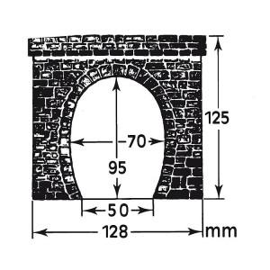 Faller 120563 Maquette, 2 entrées de tunnel simple voie