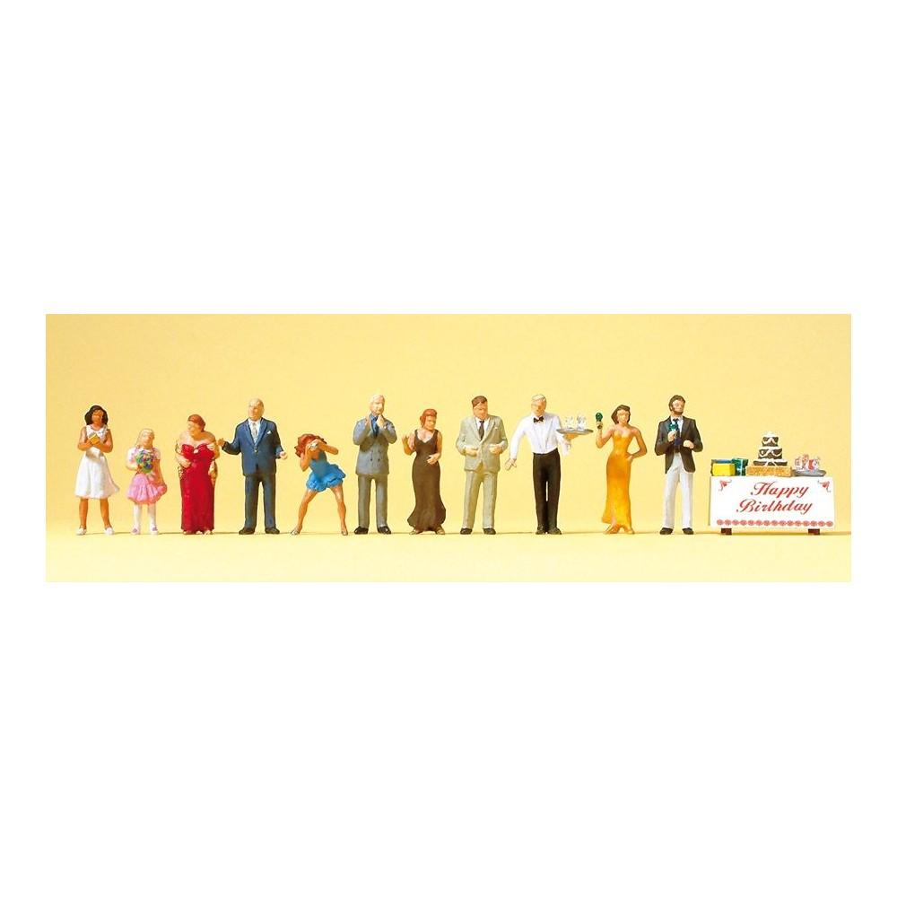 Preiser 10554 personnages, Fête d'anniversaire