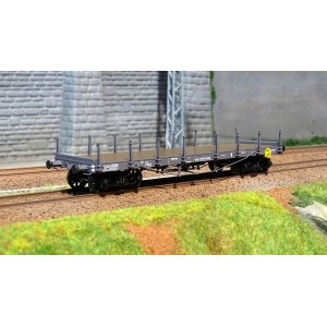 Ree modeles WB 511 Wagon Plat TP, bogies, ranchers courts, ep. II, NORD