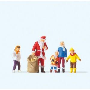 Preiser 29098 personnage, Père Noël avec enfants