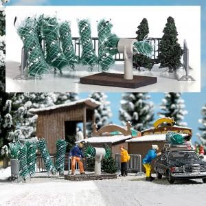 Busch 1182 Stand de vente de sapins de Noël