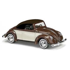 Busch 46718 Véhicule Volkswagen coccinelle cabriolet, marron et beige